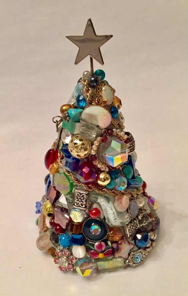 STAR  crystal, sterling silver, gold, semi-precious stone, beads, jewery findings, stained glass, shell.   SOLD $125